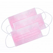 Маски медицинские одноразовые, розовые, 100 шт