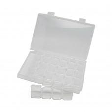 Контейнер с внутренними маленькими  контейнерами (28шт) для страз